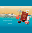 web site design template on theme travel vector image vector image