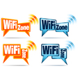WiFi Zone WiFi Icons vector image vector image