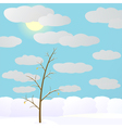 Winter in forest vector image vector image