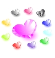 collection of heart-shaped diamonds vector image