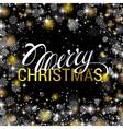 Christmas shining on black background with shiny vector image