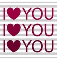 I love you with heart shirt design vector image