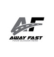 a f away fast logo designs and courier vector image