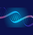 abstract backgrouns with dna spiral glowing lines vector image vector image