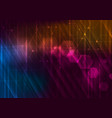 abstract glowing technology background with vector image vector image