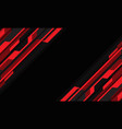 abstract red grey cyber circuit slash black vector image vector image