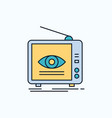 ad broadcast marketing television tv flat icon vector image