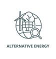alternative energy line icon outline vector image vector image