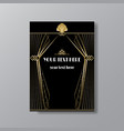 Art deco elegant page template gatsby style