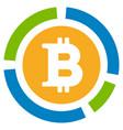 bitcoin diagram flat icon vector image vector image