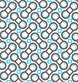 Blue and gray c shapes and squares vector image vector image