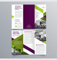 brochure design 1185 vector image vector image