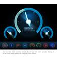 car dashboard panel gauges concept vector image vector image