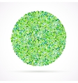 card background with circle of leaves vector image vector image