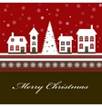 Christmas card with a beautiful little vector image