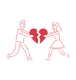 couple in love dating romantic date concept vector image vector image