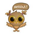 cute cartoon owl vector image