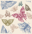 cute seamless wallpaper pattern with butterflies vector image vector image