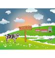 Dairy cows vector image vector image