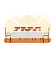 dining room in arabic style flat vector image vector image