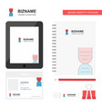 dna business logo tab app diary pvc employee card vector image