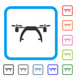 drone carrier framed icon vector image vector image