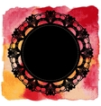 Elegant lacy doily on watercolor background vector image vector image