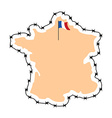 France Map Map of states with barbed wire Country vector image vector image