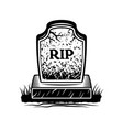 grave with inscription rip graphic object vector image