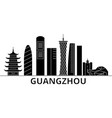 guangzhou architecture city skyline travel vector image vector image