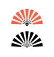 hand fan chinese fold clipart icon japan held fan vector image