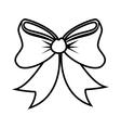 happy merry christmas bow ribbon card vector image