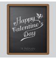 Happy valentine day typography drawing on chalkboa vector image
