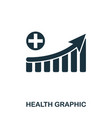 health increase graphic icon mobile apps vector image