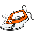 hot iron cartoon vector image vector image
