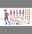 ice hockey player animated character vector image vector image
