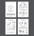 infographics with various data on paper sheets vector image vector image