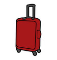 isolated travel bag vector image vector image