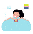 jacuzzi cute woman vector image vector image