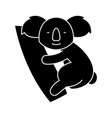 koala cute icon black sign vector image vector image
