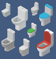 lavatory bowls or toilet pans and wc vector image