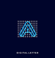 letter a template vector image
