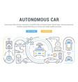 linear banner autonomous car vector image