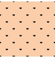 Little black hearts seamless pattern vector image vector image