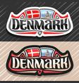 logo for denmark vector image vector image