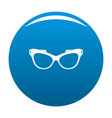 man spectacles icon blue vector image