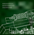 mechanical engineering the drawing technical the vector image