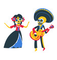 mexican performers musicians playing guitar and vector image vector image