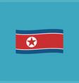 north korea flag icon in flat design vector image
