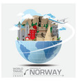 Norway Landmark Global Travel And Journey vector image